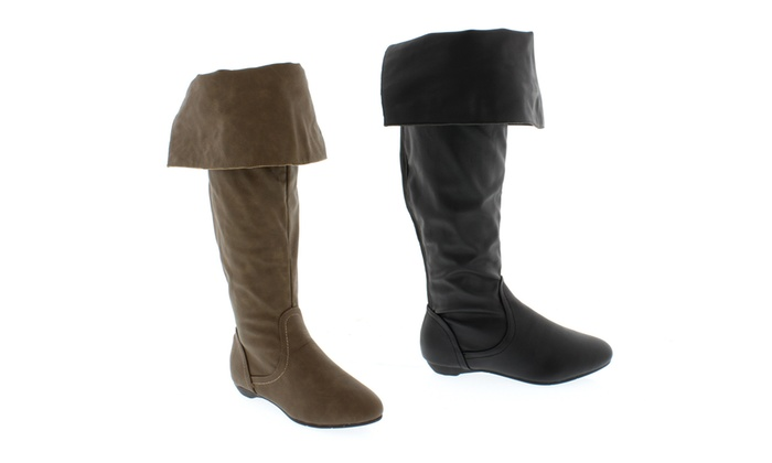 Women's Foldover Knee-High Boots