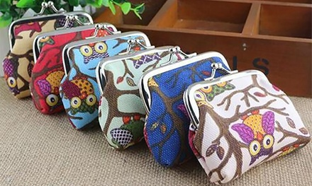 One or Two Owl Coin Purses in Choice of Colours