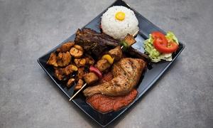 Miami Food: Plat et dessert pour 2 personnes à 19,99 € au restaurant Miami Food