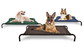 FurHaven Steel Frame Cot-Style Raised Pet Bed