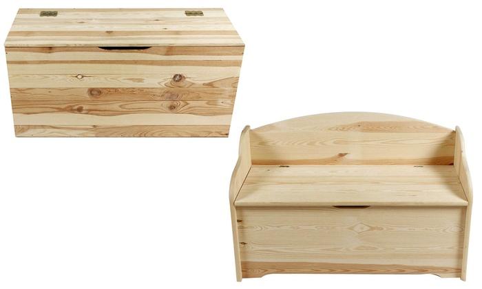 Cassapanca in legno groupon goods for Cassapanca fai da te