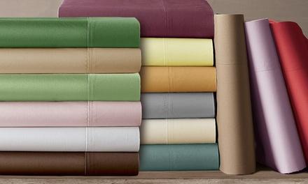 Clearance: 1,000-Thread-Count Cotton-Rich Sateen Sheet Set