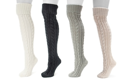 Muk Luks Women's Cable Knit Over-the-Knee Socks (3 Pairs) cf35ba0f-236b-459c-9295-329d58e56623