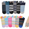 Unisex Cotton Toe Socks with Nonslip Heels (6-Pair)