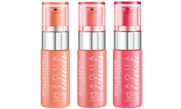 Three Bourjois Aqua Blush 12hr Gel Blushers from £4.50