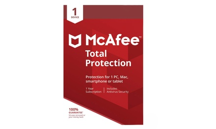McAfee One-Device, One-Year Total Protection 2019
