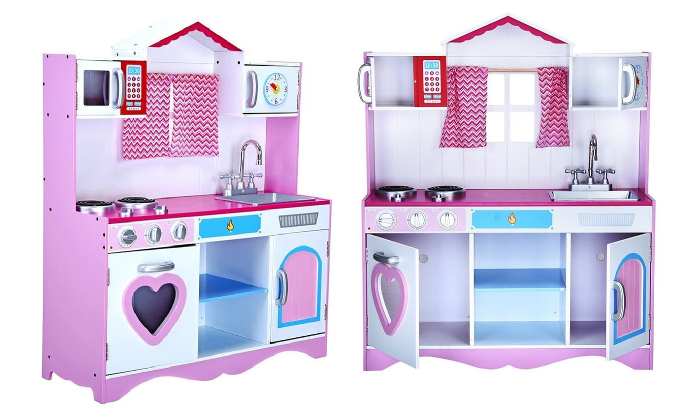 Large Wooden Kitchen Playset With Free Delivery