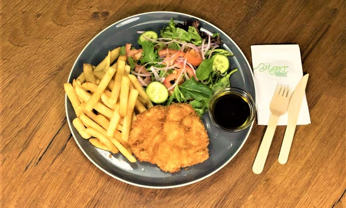 Markt - Sydney: Schnitzel, Chips, Salad and Drink for One ($10) or Two People ($19) at Markt (Up to $34 Value)