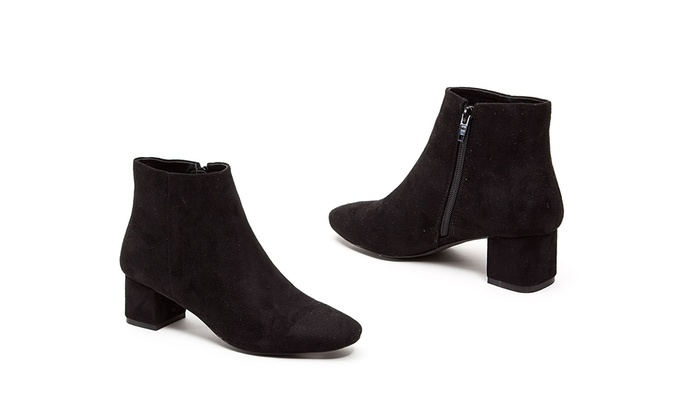 French Blu Adelle Women's Faux-Suede Ankle Boots (Size 11)