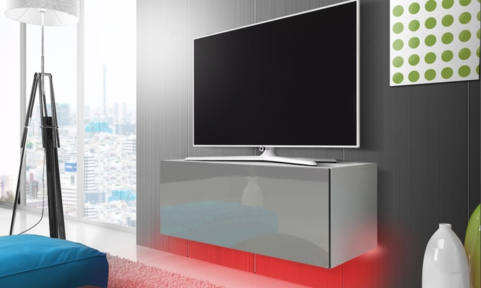 jusqu 39 56 meuble tv led selsey groupon. Black Bedroom Furniture Sets. Home Design Ideas