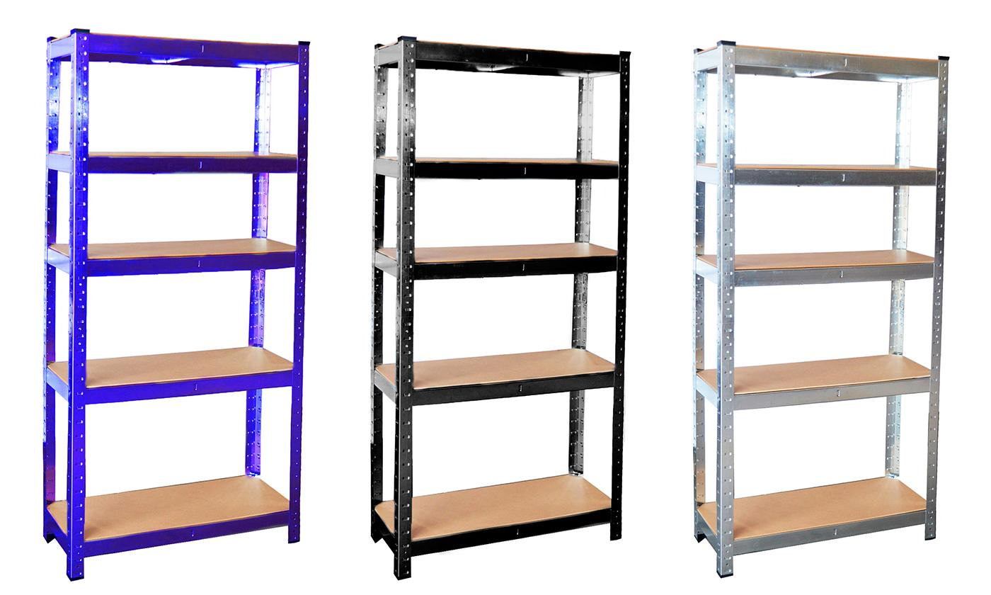One or Two Heavy Duty Five-Tier Shelving Units
