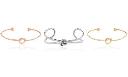 18K Gold Plated Love Knot Bangle Bracelet