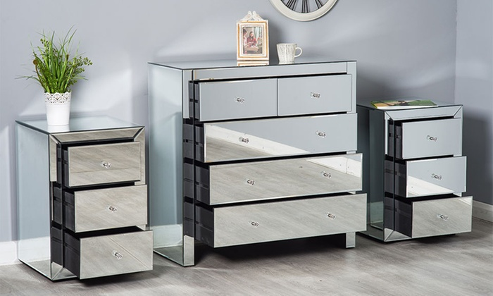 Mirrored Bedroom Furniture Sets Groupon