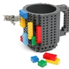 Build-On Brick Mug Lego Type Building Blocks Coffee Cup