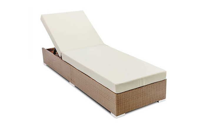 ... Groupon Goods: From $159 For A Wicker Outdoor Pool Bed