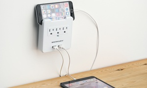 Merkury Innovations 2.1A USB Wall Plate with Built-In Phone Mount