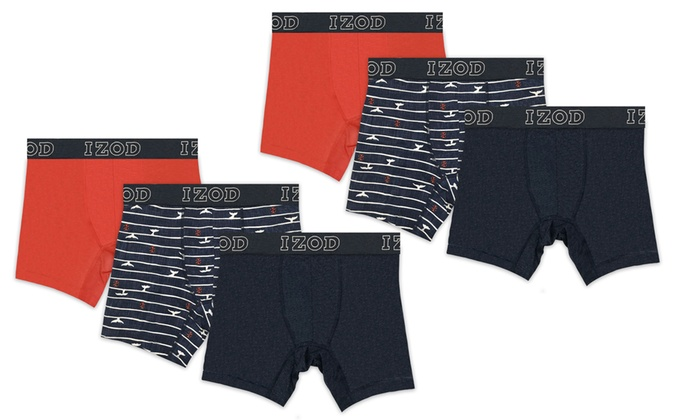 136eaba5b38f6 Izod Men s Cotton Stretch Boxer Briefs (6-Pack)