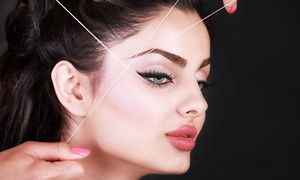 Brow Threading 17: One or Three Brow Threadings or a Full-Face Threading at Brow Threading 17 (Up to 50% Off)