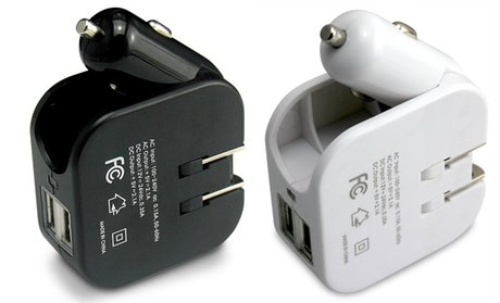 2-in-1 USB Car and Wall Charger