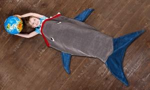 Plaid en polaire 'Requin'