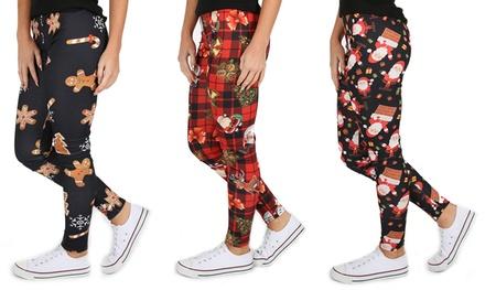 Be Jealous Christmas Printed Leggings in Choice of Design