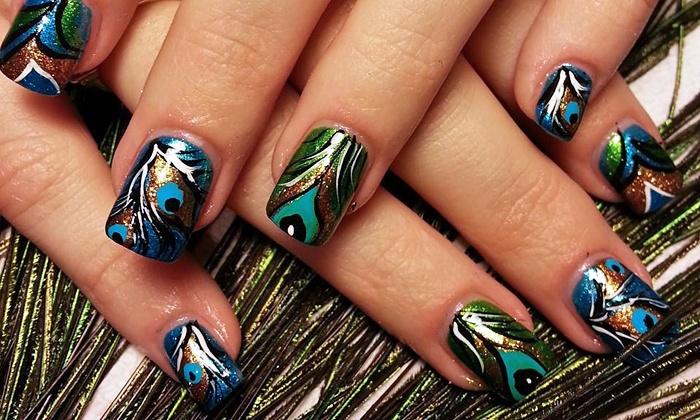 Dazzlin' Dezignz Salon & Spa - Glenmoor: Nail-Art Manicure with Optional Spa Pedicure at Dazzlin' Dezignz Salon & Spa (Up to 50% Off)