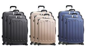Set 3 valises ABS Bluestar