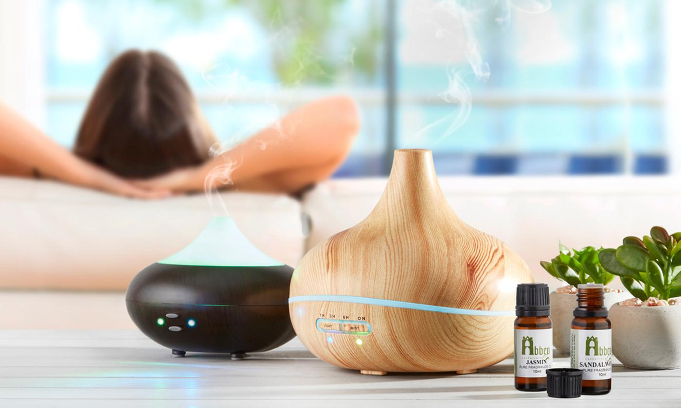 Scented Aroma Diffuser with Optional Fragrance Oil Gift Set