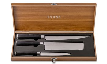 Damasukasu Japanese Master Chef Hanshu Blade Set (3-Piece)
