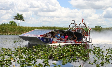 One 60-Minute Airboat Tour or Private Airboat Tour with with Gator Show and Photos at Everglades Holiday Park