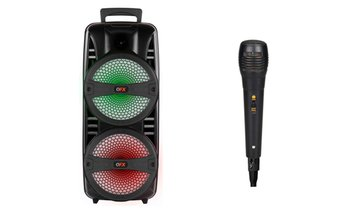 "QFX TWS 2 x 8"" Portable Bluetooth Party Speaker with Microphone"