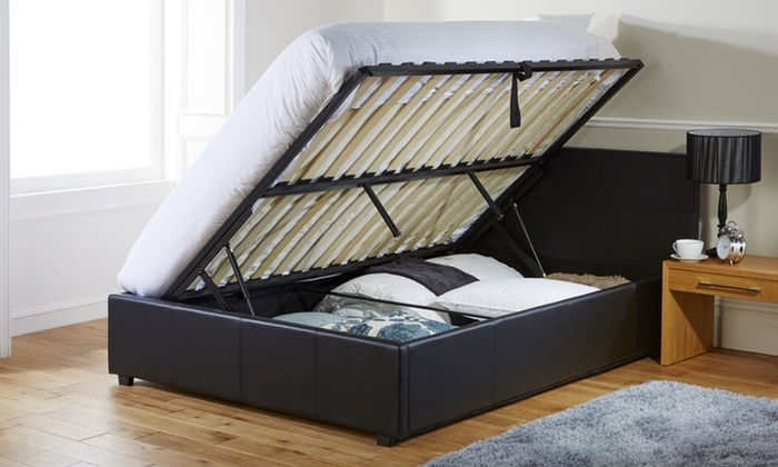 Ottoman Storage Bed Frame with Optional Memory Foam or Bonnell Mattress from £135 (9% OFF)
