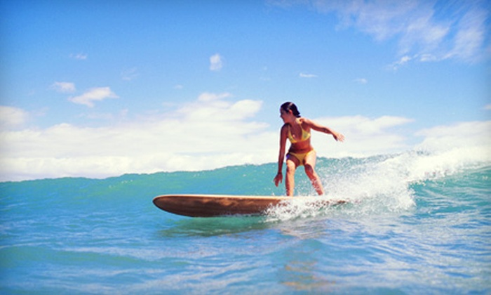 StreetWaves - South Pointe: $49 for a Group Introductory Surfing Lesson from StreetWaves in Miami Beach ($100 Value)