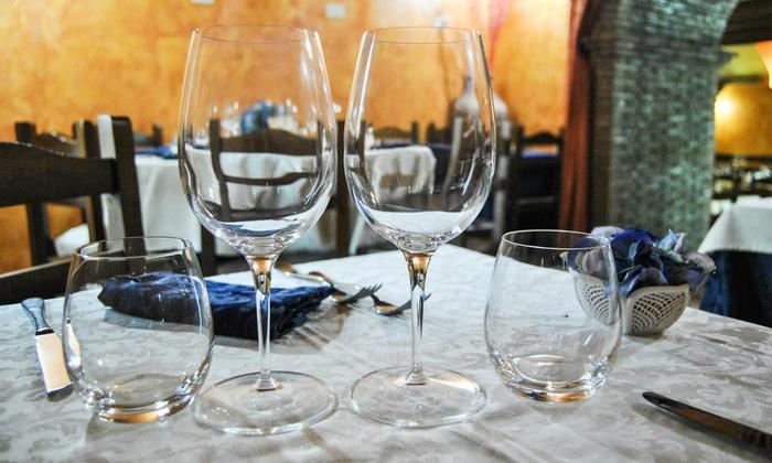 Menu romano da 4 portate e vino ristorante mitreo groupon for Cibo tipico romano