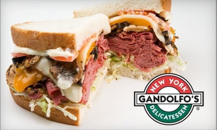 Gandolfo's New York Delicatessen - Cherry Hills Village: $9 For $18 Worth of Deli Fare and Drinks at Gandolfo's New York Delicatessen