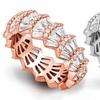 Plated Cubic Zirconia Baguette Cut Eternity Ring by Sophia Lee