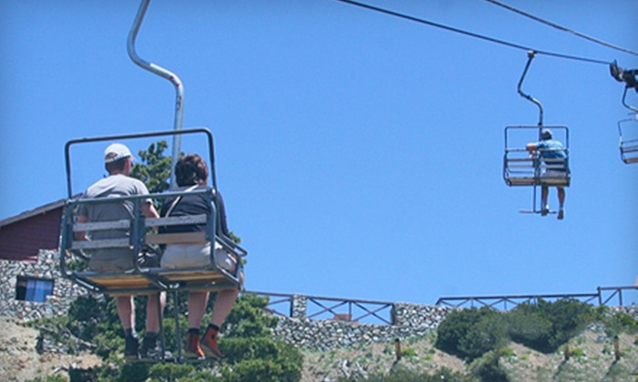 Mt. Baldy Ski Lifts - Mt. Baldy: $28 for a Scenic Ride and Restaurant Vouchers for Two at Mt. Baldy ($60 Value)