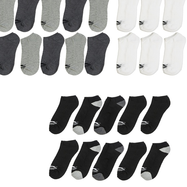 Slazenger Men's Athletic Low-Cut Cushioned Socks (10- or 20-Pack)