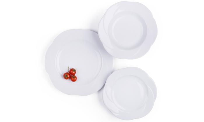 3c0c70d0b1ae Set di piatti bianchi da 18 pezzi | Groupon Goods