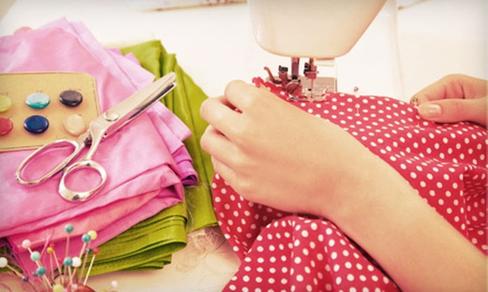 Thimble Fingers Sewing Studio - Memorial: Pillow-Making Sewing Session for One or Two at Thimble Fingers Sewing Studio (Up to 54% Off)
