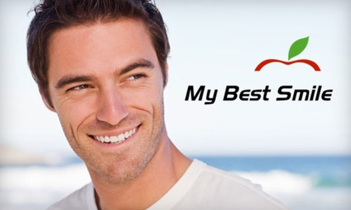 My Best Smile - Multiple Locations: Teeth Whitening Trays, an Exam and X-Rays, or Teeth Cleaning at My Best Smile (Up to $300 Value). Choose from Three Options.