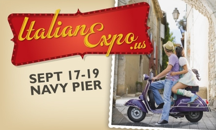 Italian Expo - Near North Side: $5 for One-Day Admission to Fourth Annual Italian Expo, Held September 17–19 at Navy Pier (Up to $15 Value)