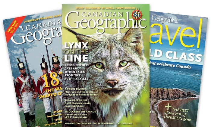 """Canadian Geographic: C$14 for a One-Year Subscription to """"Canadian Geographic"""" Magazine (C$32 Value)"""
