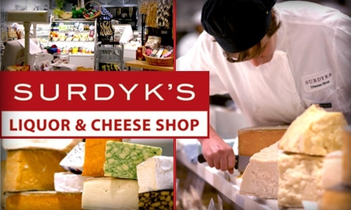 Surdyk's - Nicollet Island: $10 for $20 Worth of Artisanal Cheese and Gourmet Products at Surdyk's Cheese Shop
