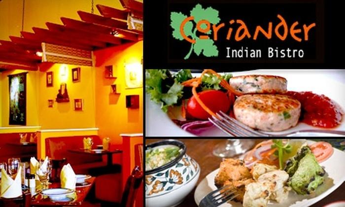 Coriander Indian Bistro - Voorhees: $10 for $25 Worth of Authentic Indian Cuisine at Coriander Indian Bistro