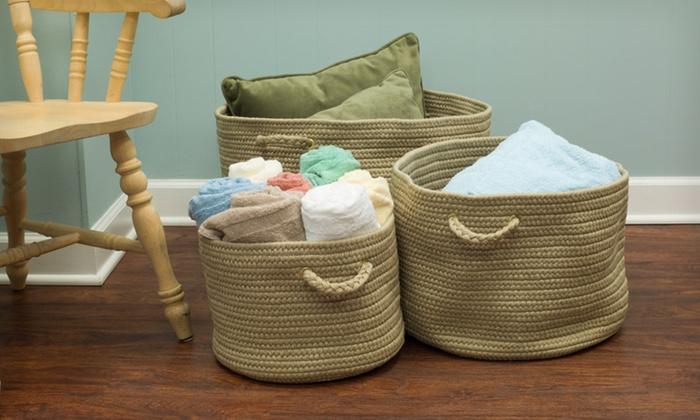 ... Up To 57% Off Indoor/Outdoor Storage Baskets ...