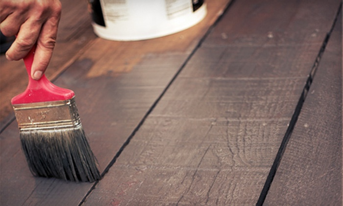 Buck's Lawn Service - Chapel Hill: Deck Pressure Washing and Staining for Up to 100, 250, or 400 Square Feet Plus Refinishing of One Table and Two Chairs from Buck's Lawn Service (Up to 69% Off)