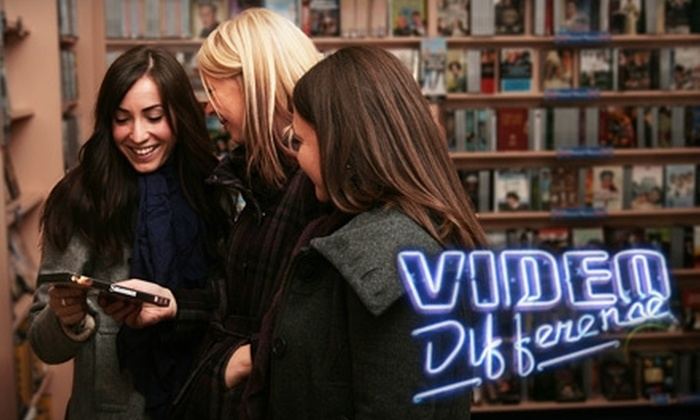 Video Difference - Multiple Locations: $10 for Three Movie Rentals at Video Difference