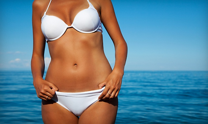 Real Tan - Lakeview: Two Custom Airbrush Spray Tans or Five UV-Tanning Sessions at Real Tan in Mississauga (Up to 80% Off)