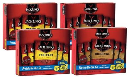 Jack Link's Beef Jerky Snack Packs 20-Pack, Original or Teriyaki
